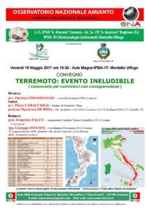 Locandina Terremoto: evento ineludibile a Montalto Uffugo (CS)