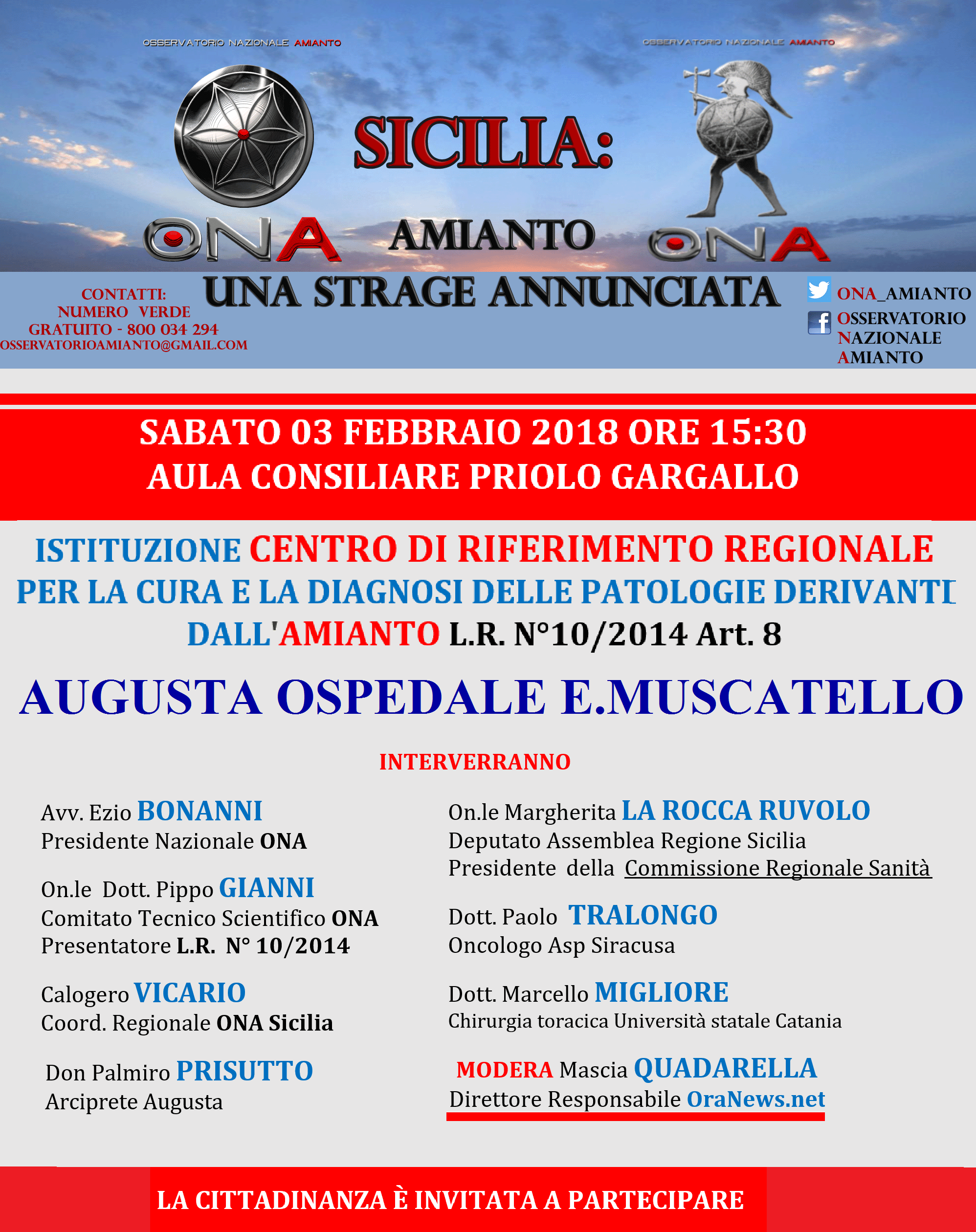 LOCANDINA ONA Sicilia 3 febbraio 2018